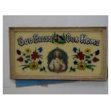 """Vintage """"God Bless Our Home"""" Wall Hanging"""