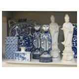 Home Decor, Asian Statues / Figurines, Blue & White Pottery