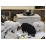 Sheep Figurines, Decorative Box
