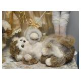 Cat Figure with Real Fur