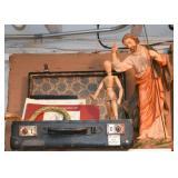 Books, Suitcases, Artist Model, Religious Statue
