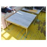 Square Coffee / Cocktail Table or Side Table - Metal Base & Marble Top (there are 2 of these)