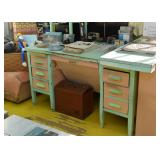 Painted Office Desk