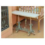 Small Console Table with Metal Base