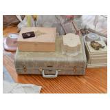 Vintage Suitcases, Jewelry Boxes, Pedestals, Etc.