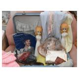 Vintage Luggage / Suitcases Filled with Vintage Goodies & Art Pieces, Art & Craft Supplies and Found