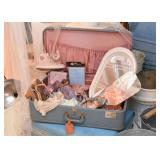Vintage Suitcases, Clothing & Shoes, Art Supplies, Fabrics, Home Decor, Found Objects, Etc.