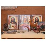 Religious Prints, Animal Figures, Interesting Home Decor