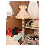Vintage Floor Lamp with Frilly Shade