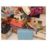 Vintage Luggage / Suitcases, Toys, Craft Supplies