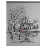 Framed Artwork - Street Scene
