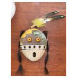 Original Southwestern Artwork - Ceramic Wall Mask, Signed Real Rider