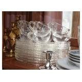 Vintage Glass Luncheon Sets