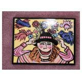 Ceramic Artwork / Tile, Signed