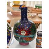 Hand Painted Folk Art Vase