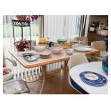 Vintage Dinette Set - Kitchen Table & 4 Swivel Chairs