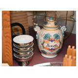 Soup Bowls, Biscotti Jar