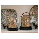 Chinese Porcelain Teapots (Famille Rose / Rose Medallion)