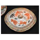 Chinese Porcelain Covered Casserole with Goldfish (Famille Rose / Rose Medallion)
