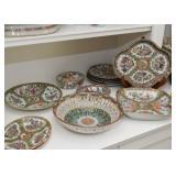 Chinese Porcelain Plates, Platters, Bowls & Teacups (Famille Rose / Rose Medallion)
