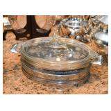 Etched Glass Covered Casserole