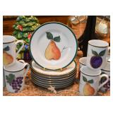Dessert Plates & Coffee Mugs (Fruit Motif)