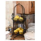 2-Tiered Metal Kitchen Basket