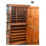 Antique Cabinet with Side Shelves