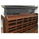 Wooden Hutch with Cubbies