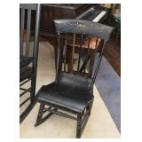 Antique Black Painted Rocking Chair (Smaller Size)