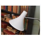 Walter Von Nessen Double Arm Chrome Table Lamp (needs rewiring)