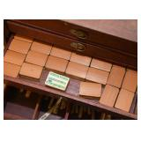 Mah Jong Tiles Game Set with Wooden Case
