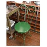 Green Metal Ice Cream Parlor Chairs (there is a pair of these)