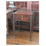 Antique Side Table with Drawers and Ornate Legs