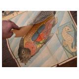 Antique / Vintage Carp Fish Educational Poster