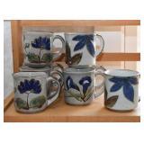 Stoneware Pottery Coffee Mugs