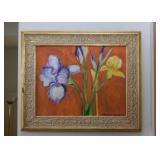 Framed Artwork / Paintings - Irises