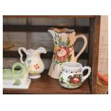 Vintage Hand Painted Pottery (Pitchers & Creamers)
