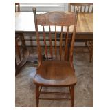 Set of 4 Vintage Wood Dining Chairs