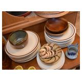 Dinnerware, Dishes, Wooden Bowls, Platters, Creamers