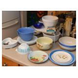 Mixing Bowls, Serving, China, Dishes, Etc.