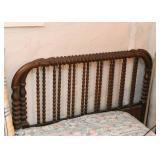 Vintage Wooden Spindle Bed (Headboard & Footboard)
