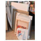 Art Supplies, Canvas, Frames