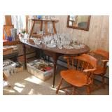 Oval Dining Table, Set of 4 Wooden Chairs