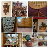 Dept 56 Collectibles, country furniture and more