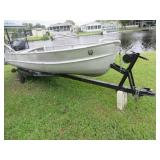 Aluminum Boat and motor