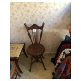 Antique Piano Stool Chair
