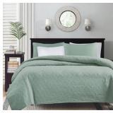 Better Trends// Pan Overseas BSRKIGRY Rio Bedspread Grey//120 x 110//King