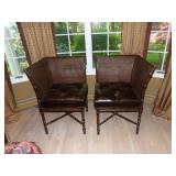 Pair of designer chairs