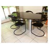 Marble top table with 6 chairs